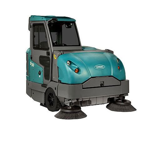 Tennant Sweeper S30 Lp W Cab Ride On Floor Sweeper For Sale