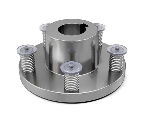 Tennant Oem Part 54087 Hub Assy Wheel 5 Bolt 4 50bc